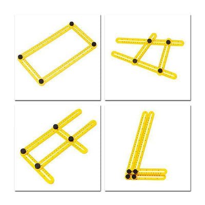Garden Tools - *Multi-Angle Four Folding Ruler - Yellow  jetcube