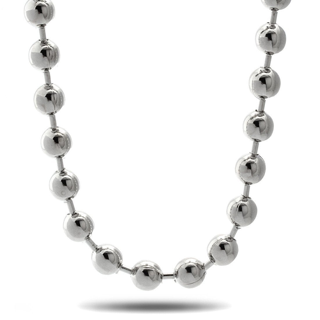 Sale - 10mm King Ice Rhodium Ball Bead Chain -   jetcube