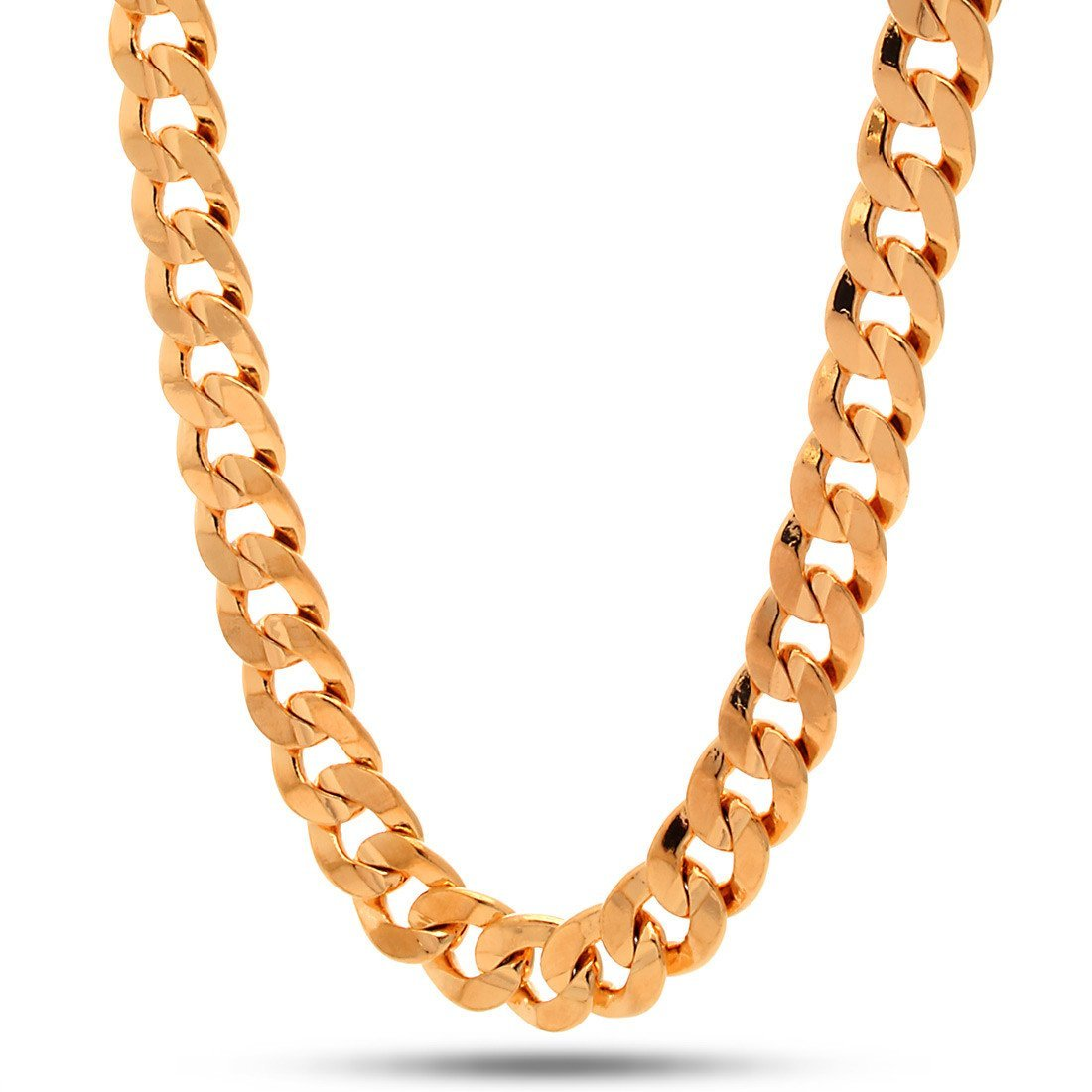 Chains - 12mm 18K Gold Cuban Curb Chain -   jetcube