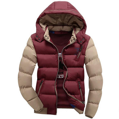 - 2016 Fashion Ultralight Spring Winter Warm Jacket Men Cotton Brand Clothing Thick Zipper Slim Men's Jackets Parkas Designer Fit - Red / M  jetcube