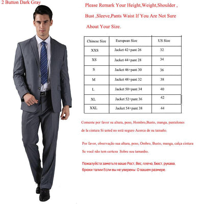 - (Jacket +Pant )2016 Spring Formal Suit  Slim Custom Fit Tuxedo Brand Fashion Bridegroon Men's Business Dress Suit Blazers B0999 -   jetcube