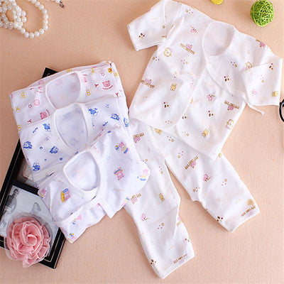 - 0-1 year autumn winter baby set romper underwear cotton T-shirt and pants baby cloth for newborns clothes for baby boy girls -   jetcube