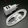 - 2 in 1 5V 2A USB charger Dual USB EU Plug Wall Charger + micro USB cable for Samsung galaxy S3 I9300 note 3 note4 mobile phone -   jetcube