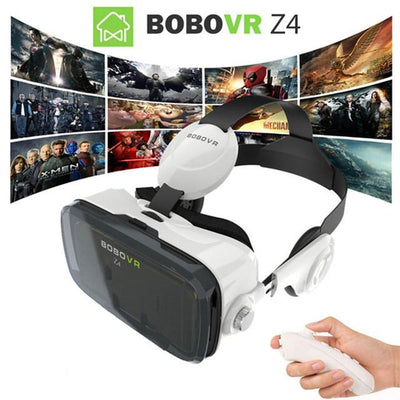 - 2016 Google cardboard VR BOX 2 XiaoZhai bobo vr z4 Virtual Reality 3D Glasses VR Headset earphone movie + Bluetooth Controller -   jetcube