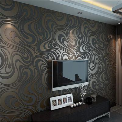 - 0.7m*8.4m wallpaper rolls Papel de parede Sprinkle gold murals damask wall paper roll modern  stereo  3D  mural wall paper roll - Chocolate / 840cm L x 70cm W  jetcube