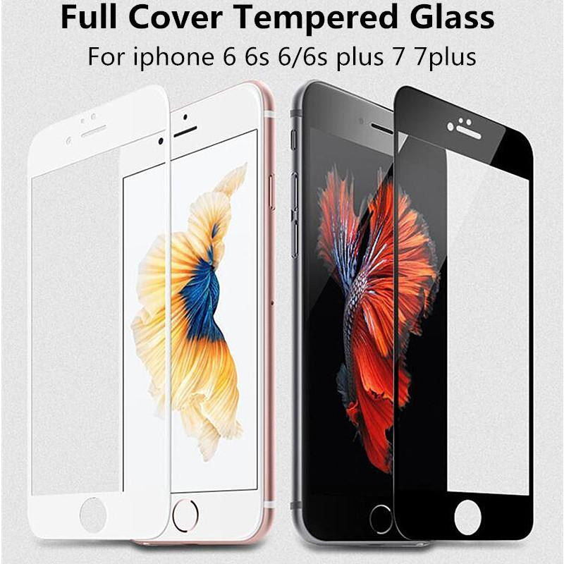 - 0.26 mm 2.5D 9H Full Coverage Cover Tempered Glass For iPhone 6 6s Plus Screen Protector Protective Film For iPhone 7 7 plus -   jetcube
