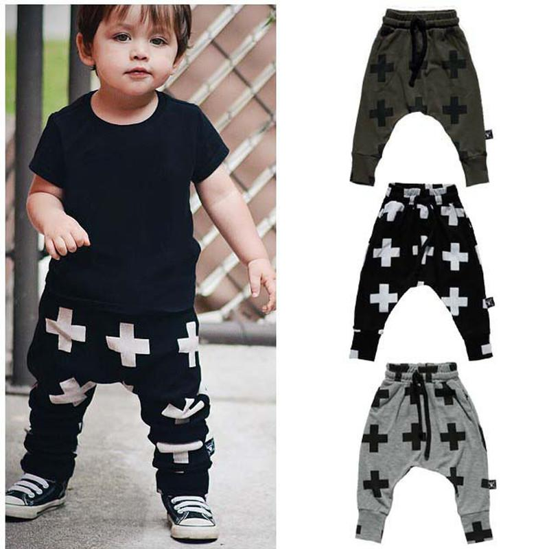 - 0-3Yrs Baby Boys Girls Cross Pants Fashion Infant Haroun Pants New 2015 Baby Clothing Pantalones Autumn Spring 95%Cotton Pant -   jetcube