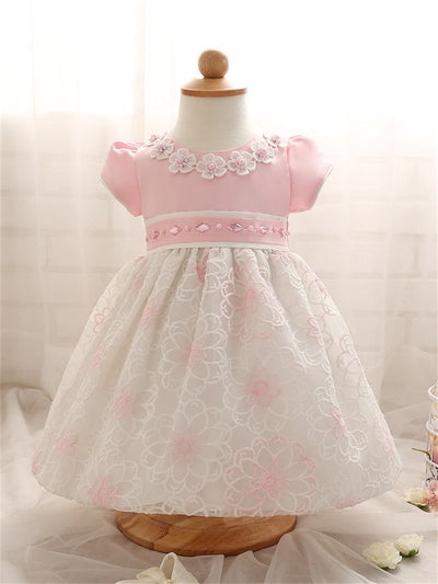 0-2 Years Flower Lace Girl Dress Summer Kids Clothes For Princess Birthday Party Newborn Children Costume Bow Cute Tutu Dress  dailytechstudios- upcube