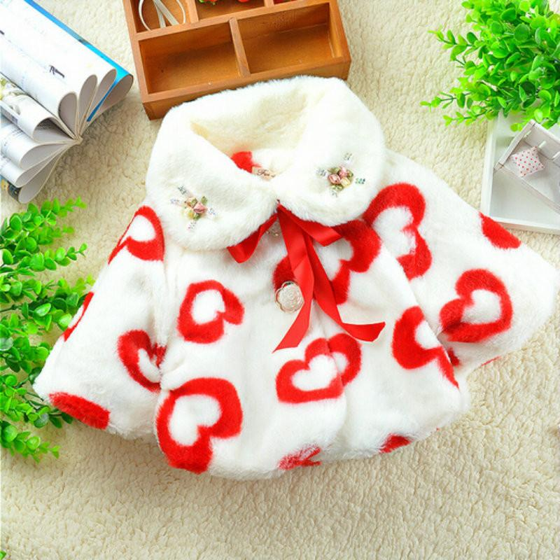 - 0-2 Years Fashion Baby Coat Cotton Thick Winter Warm Girl Clothes Infant Coats For Girls  Jacket Baby-Snowsuit -   jetcube