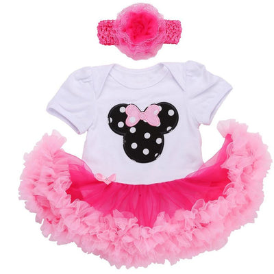 - 0 3 months first birthday girl tutu set newborn clothing baby girl dress formal infant clothes newborn baby girl clothes -   jetcube