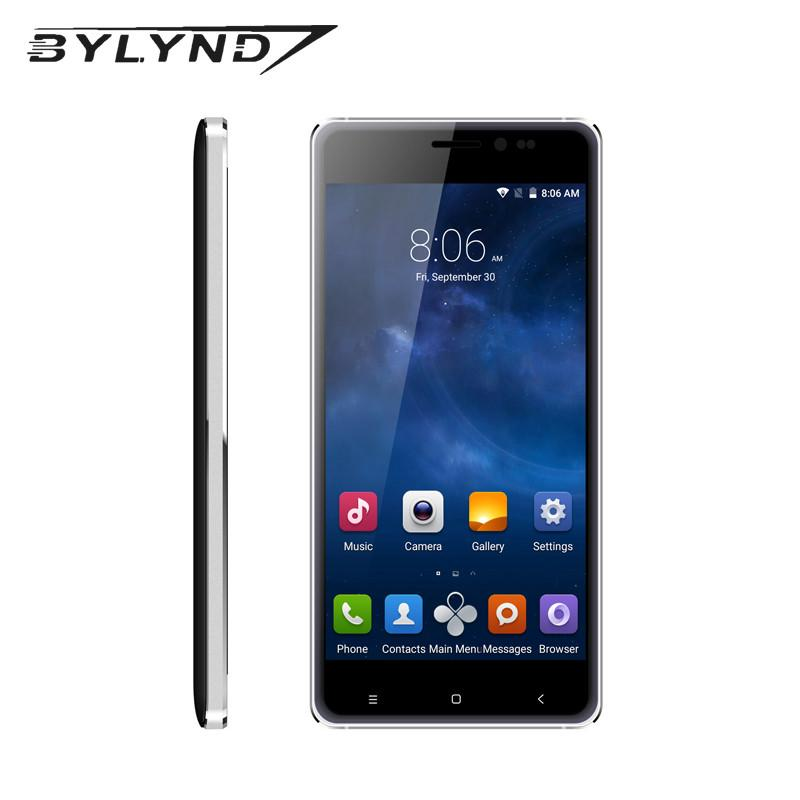 - 1G Ram 8G Rom Quad core original china mobile phone 5.0 inch 8.0MP android 5.1 cell phone BYLYND M7 1280*720 3G WCDMA GPS -   jetcube