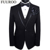 - (Jacket+Pants+Vest+BowTie+Square) Men Suits 2016 5pcs Set Tuxedo Costume Homme Terno Prom Wedding Suits For Men CBJ-T0014 -   jetcube