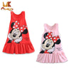 Monkids 2017 Summer Baby Girls Dresses Kids Girl Clothing Sleeveless Lovely Princess Cartoon A-Line Mini Dresses Free Shipping