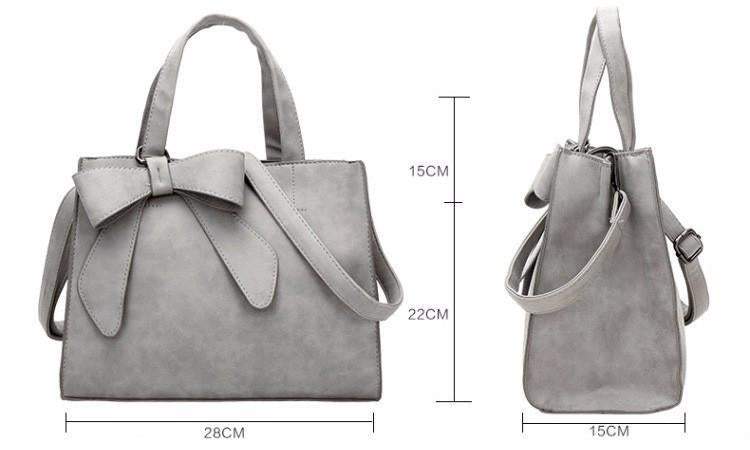 - #1 Elegant Big Bow Shoulder Tote -   jetcube
