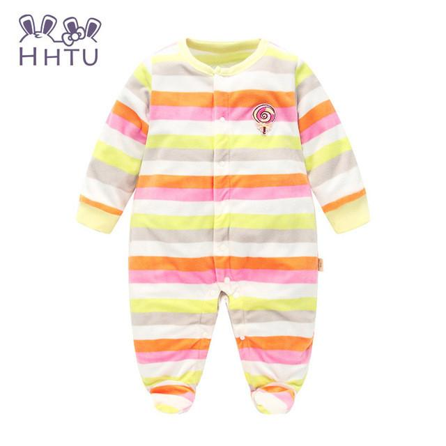 517175e9c HHTU Autumn Winter Baby Rompers clothes long sleeved coveralls for ...
