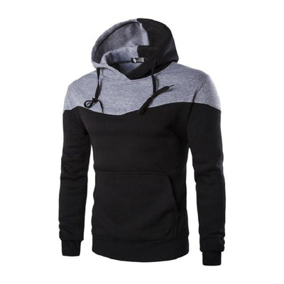 - 2016 Hoodies Men Sudaderas Hombre Hip Hop Mens Brand Hoodie Decorative Pocket Sweatshirt Suit Slim Fit Men Hoody XXL - Black / M  jetcube