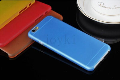 - 0.3 mm Ultra Thin Slim Plastic soft cell phone case For iphone 4 4s 5 5s se 5c 6 6s 6 plus 7 7 plus case Transparent cover - Blue / for iphone 4 4s  jetcube