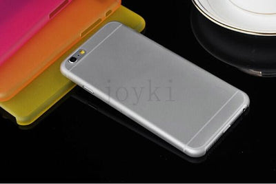 - 0.3 mm Ultra Thin Slim Plastic soft cell phone case For iphone 4 4s 5 5s se 5c 6 6s 6 plus 7 7 plus case Transparent cover - Gray / for iphone 4 4s  jetcube
