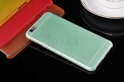 - 0.3 mm Ultra Thin Slim Plastic soft cell phone case For iphone 4 4s 5 5s se 5c 6 6s 6 plus 7 7 plus case Transparent cover - Green / for iphone 4 4s  jetcube