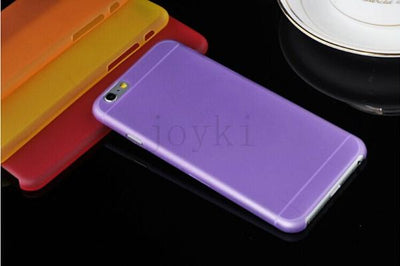 - 0.3 mm Ultra Thin Slim Plastic soft cell phone case For iphone 4 4s 5 5s se 5c 6 6s 6 plus 7 7 plus case Transparent cover - Purple / for iphone 4 4s  jetcube