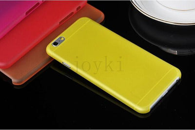 - 0.3 mm Ultra Thin Slim Plastic soft cell phone case For iphone 4 4s 5 5s se 5c 6 6s 6 plus 7 7 plus case Transparent cover - Yellow / for iphone 4 4s  jetcube