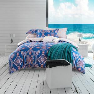 bohemian style sheets sets linens multicolor abstract flowers cotton bedspread Queen Double size quilt cover set bedding sets  dailytechstudios- upcube