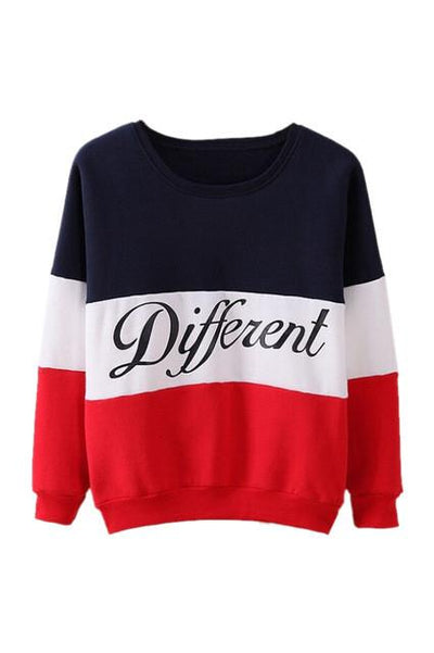 - 2015 Autumn and winter women fleeve hoodies printed letters Different women's casual sweatshirt hoody sudaderas - Red / L  jetcube
