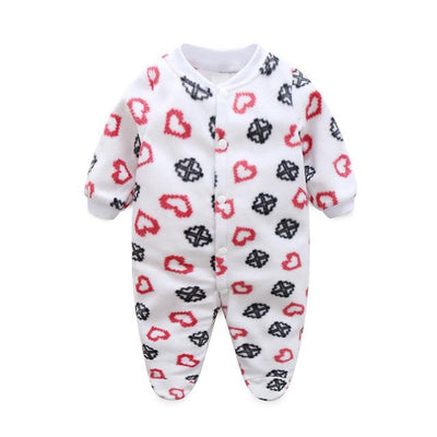 47c5d2393578 Newborn Baby Clothing Boy Girl Footed Rompers Animal Baby Romper ...