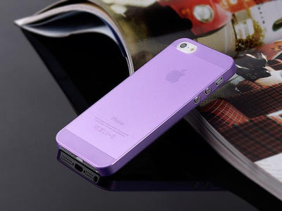 - 1PC Ultra-Thin 0.3MM Cover Bag Case For Apple Iphone 5 5s 6 6s 7 7plus Cases For iPhone5S 4 4s Mobile Phone Protection Shell-PP - 7 purple / For iPhone 5 5s  jetcube