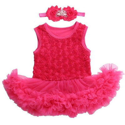 - 0 3 months first birthday girl tutu set newborn clothing baby girl dress formal infant clothes newborn baby girl clothes - 3C2004 / 0-3 months  jetcube