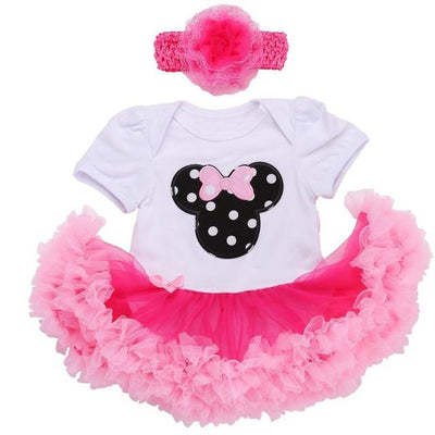- 0 3 months first birthday girl tutu set newborn clothing baby girl dress formal infant clothes newborn baby girl clothes - 3D2004 / 7-9 months  jetcube