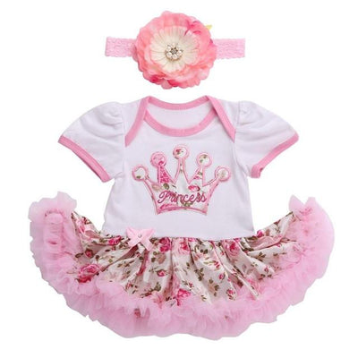 - 0 3 months first birthday girl tutu set newborn clothing baby girl dress formal infant clothes newborn baby girl clothes - 3D2003 / 7-9 months  jetcube