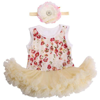 - 0 3 months first birthday girl tutu set newborn clothing baby girl dress formal infant clothes newborn baby girl clothes - 3C2001 / 0-3 months  jetcube