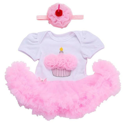 - 0 3 months first birthday girl tutu set newborn clothing baby girl dress formal infant clothes newborn baby girl clothes - 3D2002 / 7-9 months  jetcube