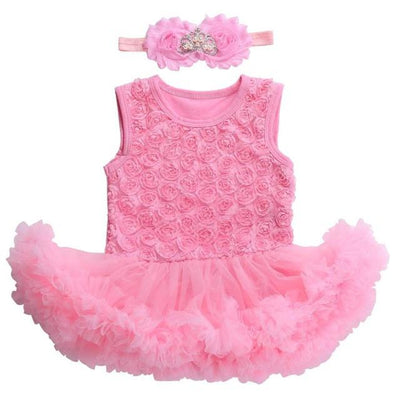 - 0 3 months first birthday girl tutu set newborn clothing baby girl dress formal infant clothes newborn baby girl clothes - 3C2003 / 0-3 months  jetcube