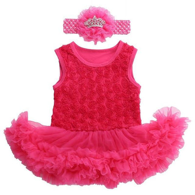 - 0 3 months first birthday girl tutu set newborn clothing baby girl dress formal infant clothes newborn baby girl clothes - 3C2007 / 0-3 months  jetcube