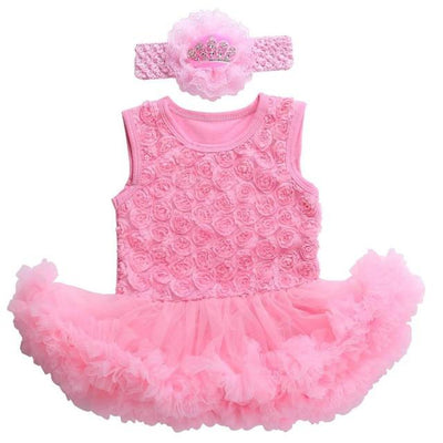 - 0 3 months first birthday girl tutu set newborn clothing baby girl dress formal infant clothes newborn baby girl clothes - 3C2006 / 0-3 months  jetcube