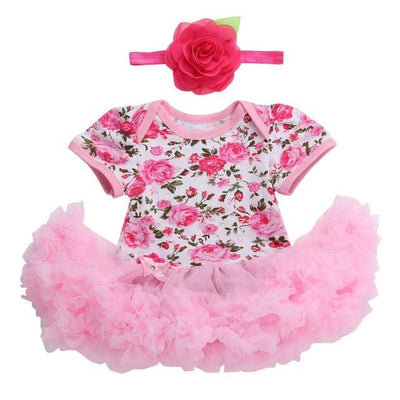 - 0 3 months first birthday girl tutu set newborn clothing baby girl dress formal infant clothes newborn baby girl clothes - 3D2005 / 7-9 months  jetcube