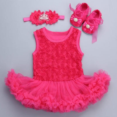 e9ffeef99 0-3 months baby girl dresses headband shoes set infantil Children s ...