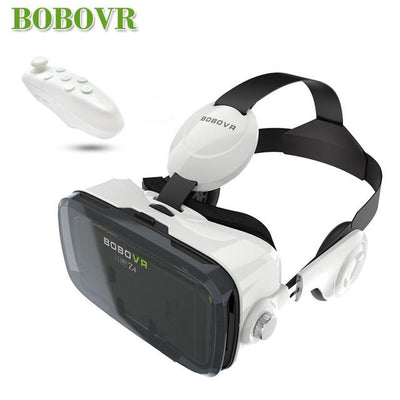 - 2016 Google cardboard VR BOX 2 XiaoZhai bobo vr z4 Virtual Reality 3D Glasses VR Headset earphone movie + Bluetooth Controller - VR with BC  jetcube