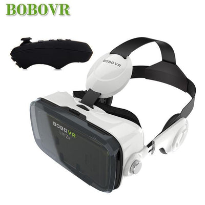 - 2016 Google cardboard VR BOX 2 XiaoZhai bobo vr z4 Virtual Reality 3D Glasses VR Headset earphone movie + Bluetooth Controller - VR with BC 1  jetcube