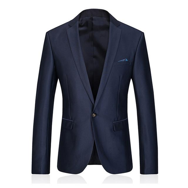 - (Jacket + Pant) Men Wool Suit Wedding Dress Costume Homme Mens Suits With Pants Terno Slim Fit Masculino Clothing Male Blue E541 - blue / S  jetcube