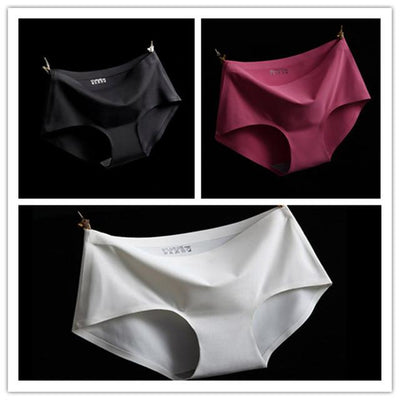 - (3pcs/lot)High Quality Sexy Underwear Women Seamless Panties Tanga Sexy Briefs Silk Calcinha Blankholding Comfort Panties M/L/XL - Mixed colors 3 / M  jetcube