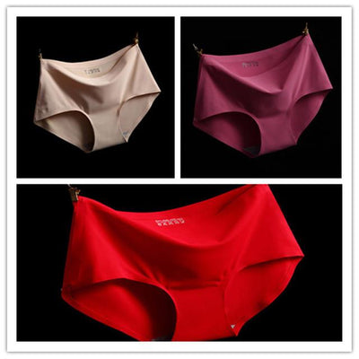- (3pcs/lot)High Quality Sexy Underwear Women Seamless Panties Tanga Sexy Briefs Silk Calcinha Blankholding Comfort Panties M/L/XL - Mixed colors 5 / M  jetcube