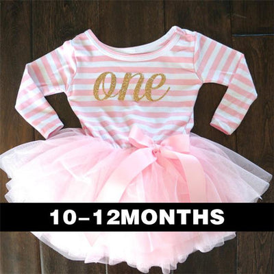 - 0-2 Years Baby Princess Girl Dress One Piece For Toddler Girl Clothing Stripe Tutu Dress Children Casual Dresses Infant Clothes - A0250F1  jetcube