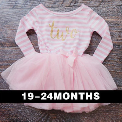 - 0-2 Years Baby Princess Girl Dress One Piece For Toddler Girl Clothing Stripe Tutu Dress Children Casual Dresses Infant Clothes - A0250F2  jetcube