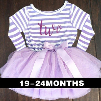 - 0-2 Years Baby Princess Girl Dress One Piece For Toddler Girl Clothing Stripe Tutu Dress Children Casual Dresses Infant Clothes - A0250Z2  jetcube