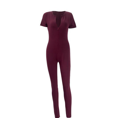 - 11.11 Sedrinuo 2016 Hot Sale New Fashion Womens Long Green Jumpsuit Sexy Bust Deep V Neck rompers women Bodycon  jumpsuit - Purple Jumpsuit / L  jetcube