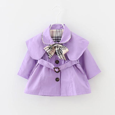 2016 new spring and autumn baby girl clothes fashion casual baby coats girls 6-24 month infant jacket outwear with belt and bow  dailytechstudios- upcube