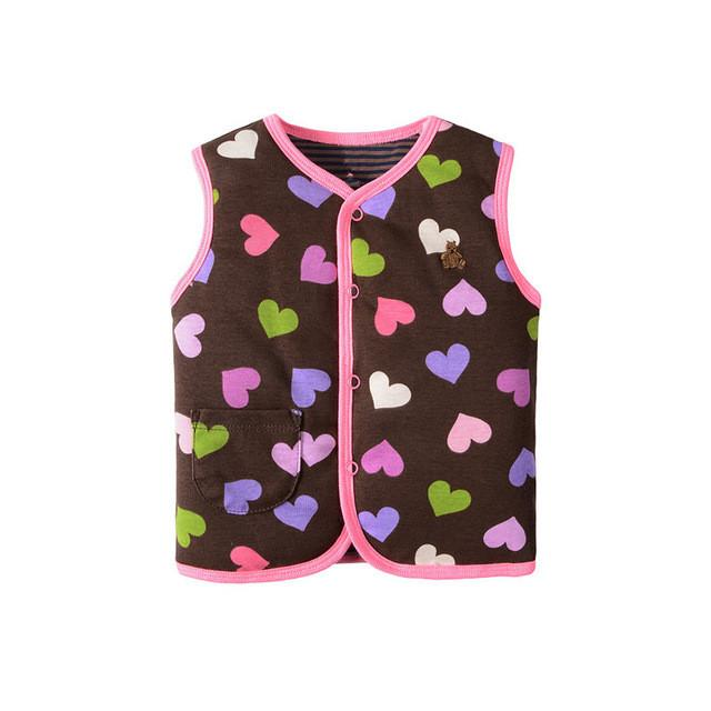 2017 Autumn Winter Double Cotton Vests Clip Cotton Infant Baby Clothing Unisex B101